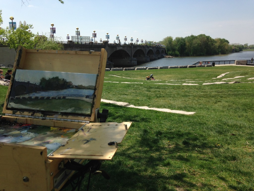 painting at white river park 2