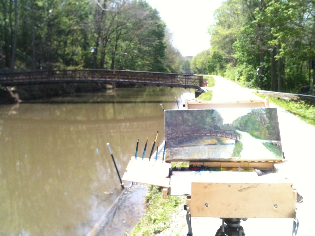painting on canal